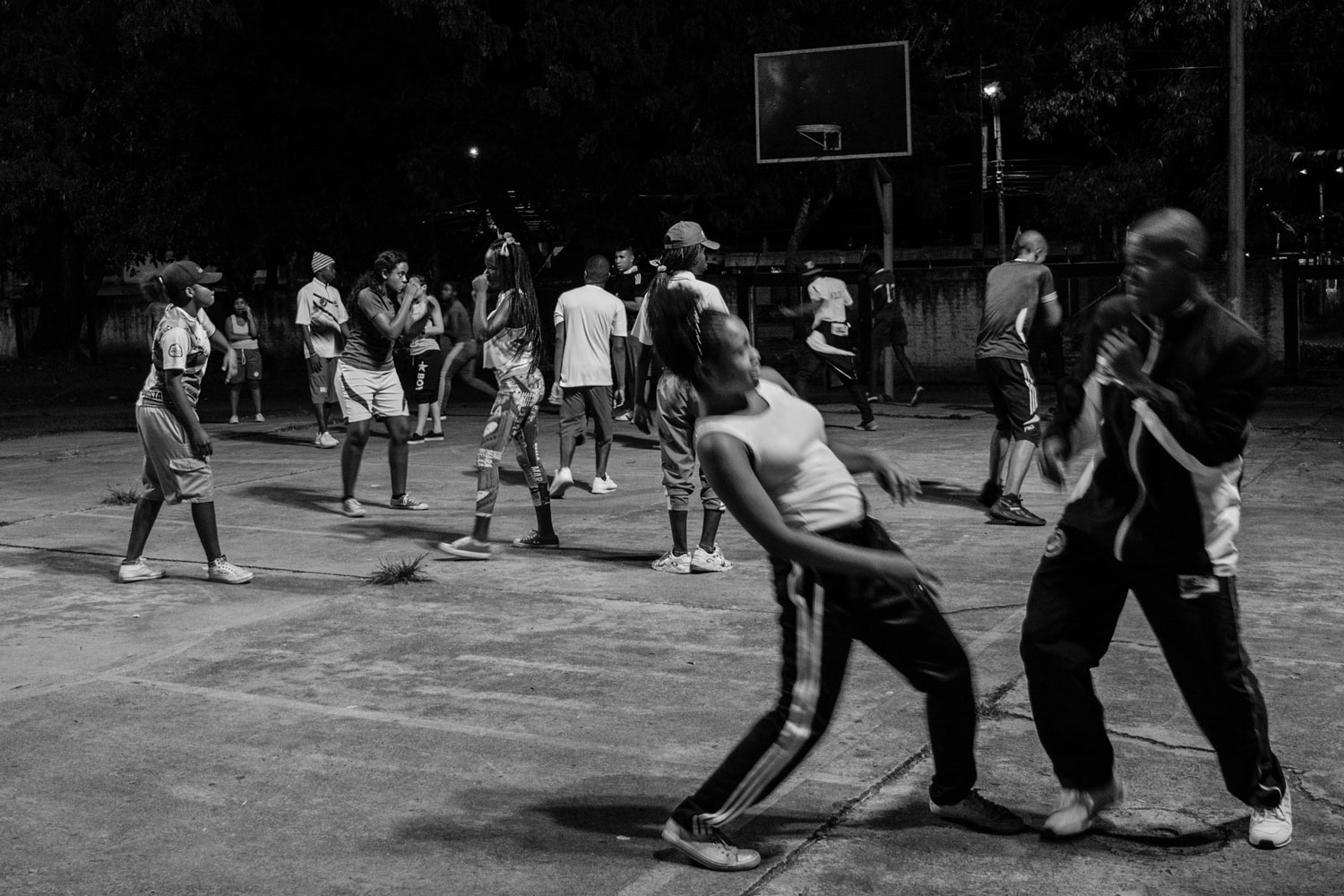 Almost every night, the members of 'Box Panthera' train in the Sports Center of the Ciudad Córdoba neighborhood. January 25, 2018.
