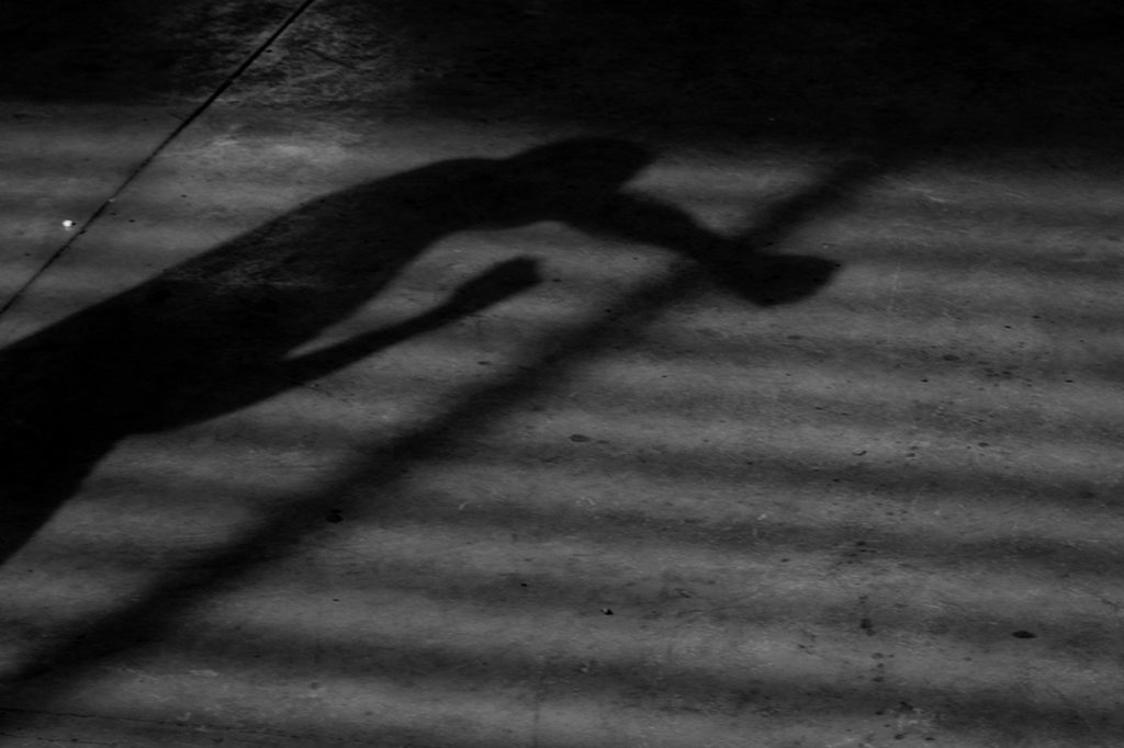 A shadow in Mariano Ramos Coliseum, east of Cali. February 2, 2018.