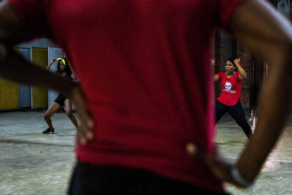 Even if Afrodance develops many genres, its specialty is everything derived from the urban and afro culture.