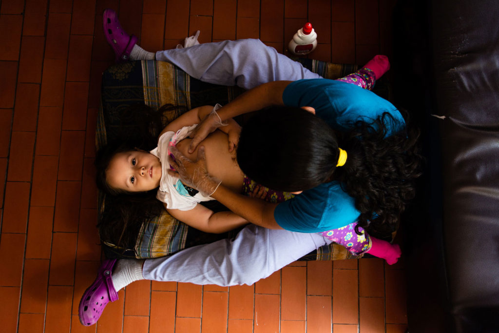 Taliana Ocampo is a 6-year-old girl who has Spinal Muscular Atrophy, SMA, an orphan disease which does not allow her to walk, stand or digest properly.