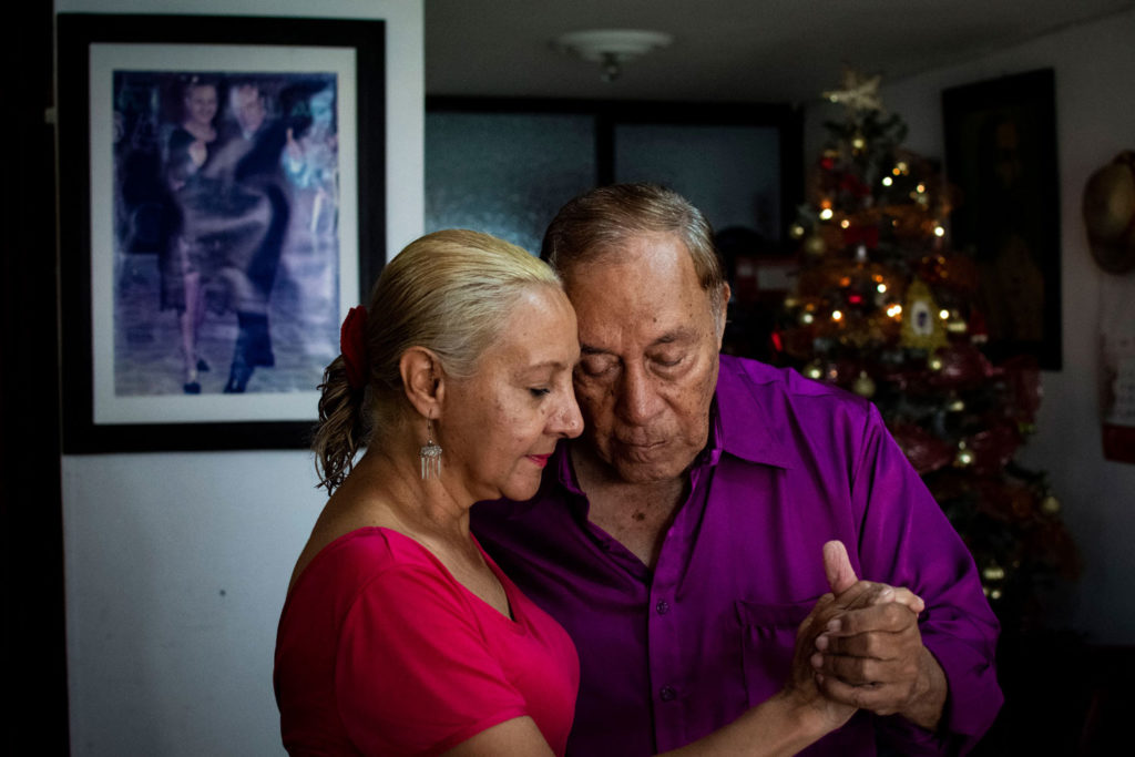Edgar Herrera and Yolanda Hernández, husbands known as The Kings of Bolero and Son, are important figures of salsa dance in Cali, consider the capital of that music genre in the world. December 17, 2018.